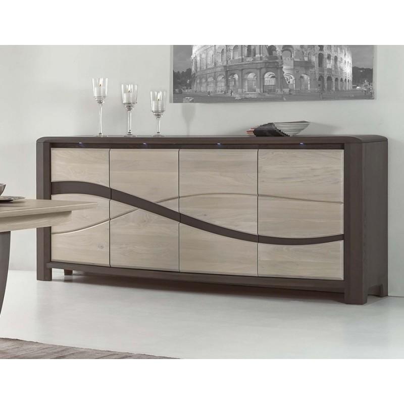bahut 4 portes oc ane meubles leclerc. Black Bedroom Furniture Sets. Home Design Ideas