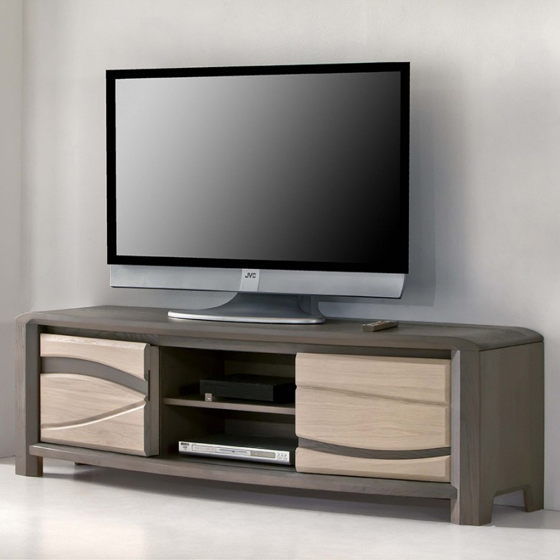 grand meuble tv 2 portes oc ane meubles leclerc. Black Bedroom Furniture Sets. Home Design Ideas
