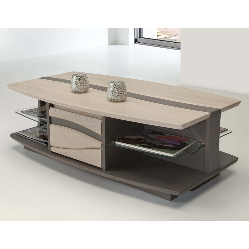 table basse oc ane meubles leclerc. Black Bedroom Furniture Sets. Home Design Ideas