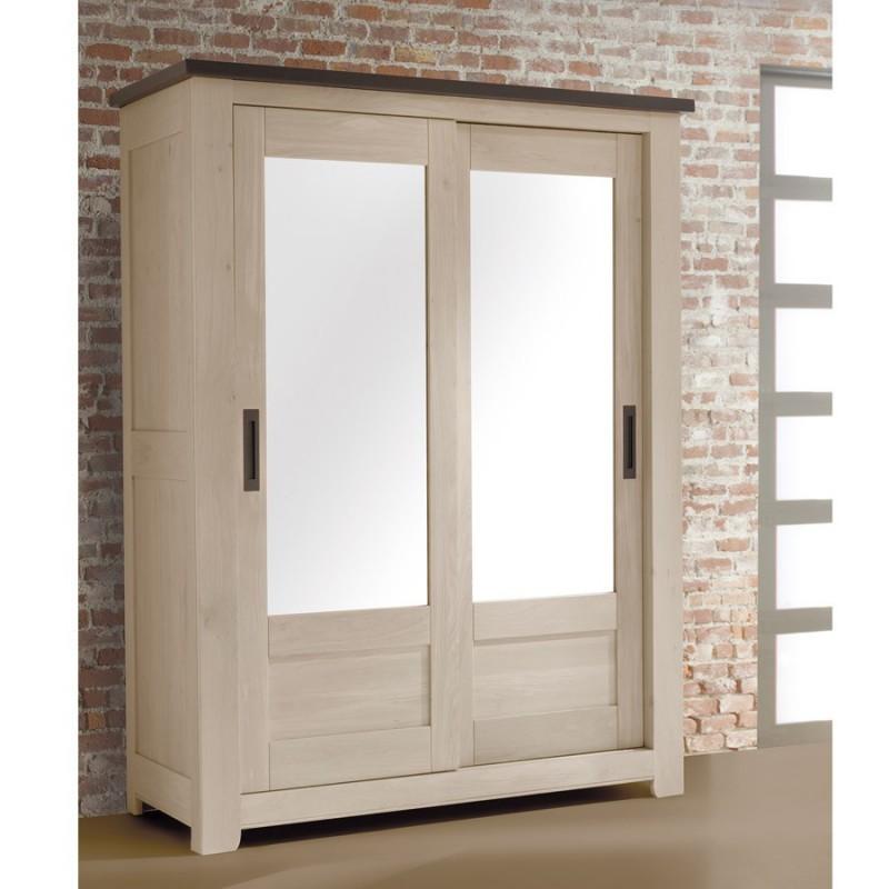 armoire 2 portes petit mod le whitney meubles leclerc. Black Bedroom Furniture Sets. Home Design Ideas
