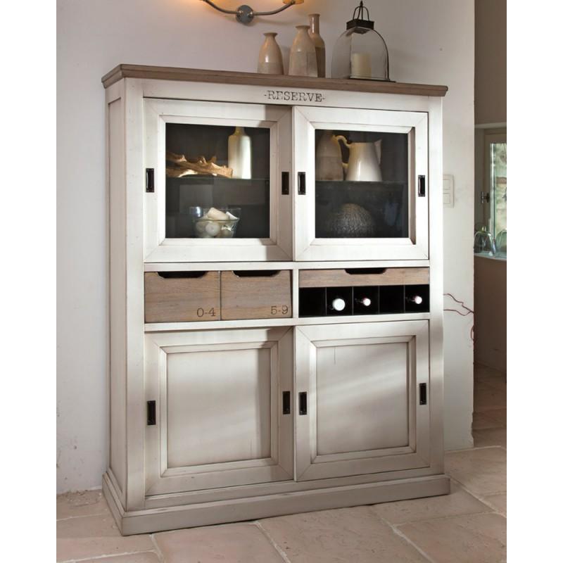 Bar 4 portes coulissantes b rang re meubles leclerc for Leclerc meubles basse goulaine