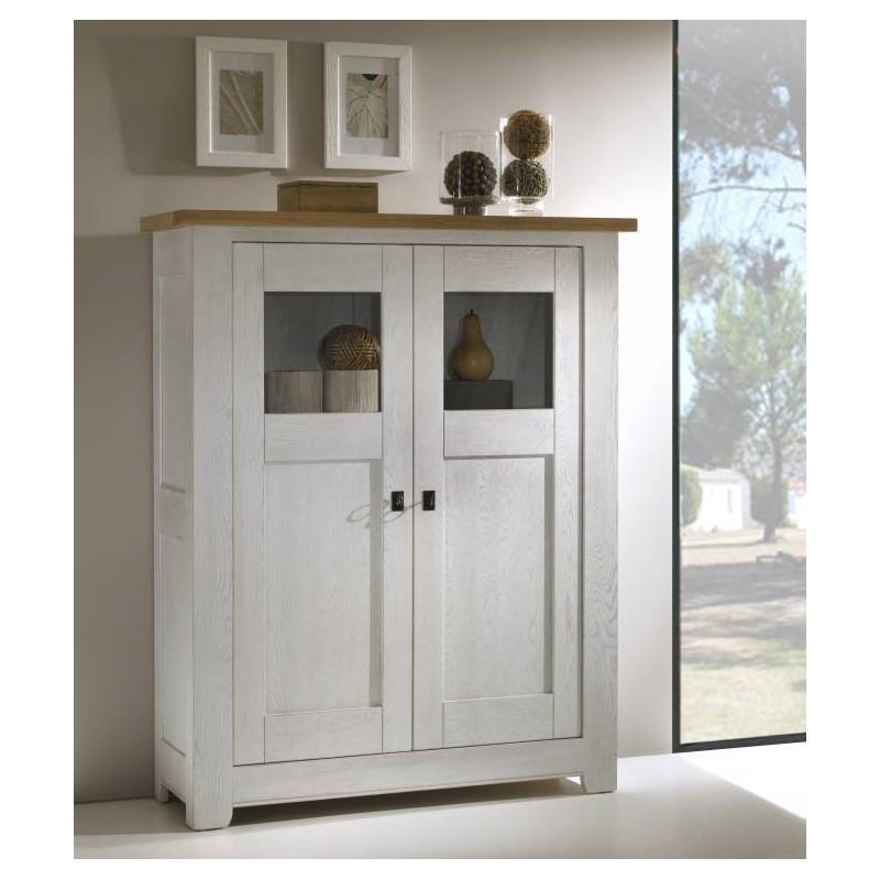 biblioth que ferm e en ch ne massif whitney meubles. Black Bedroom Furniture Sets. Home Design Ideas