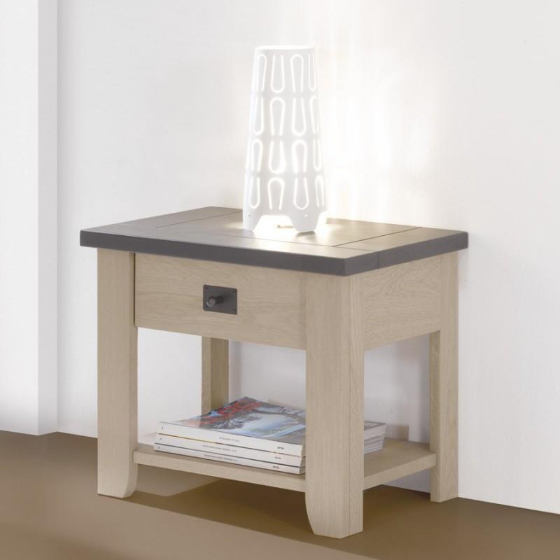 chevet ch ne massif whitney meubles leclerc. Black Bedroom Furniture Sets. Home Design Ideas