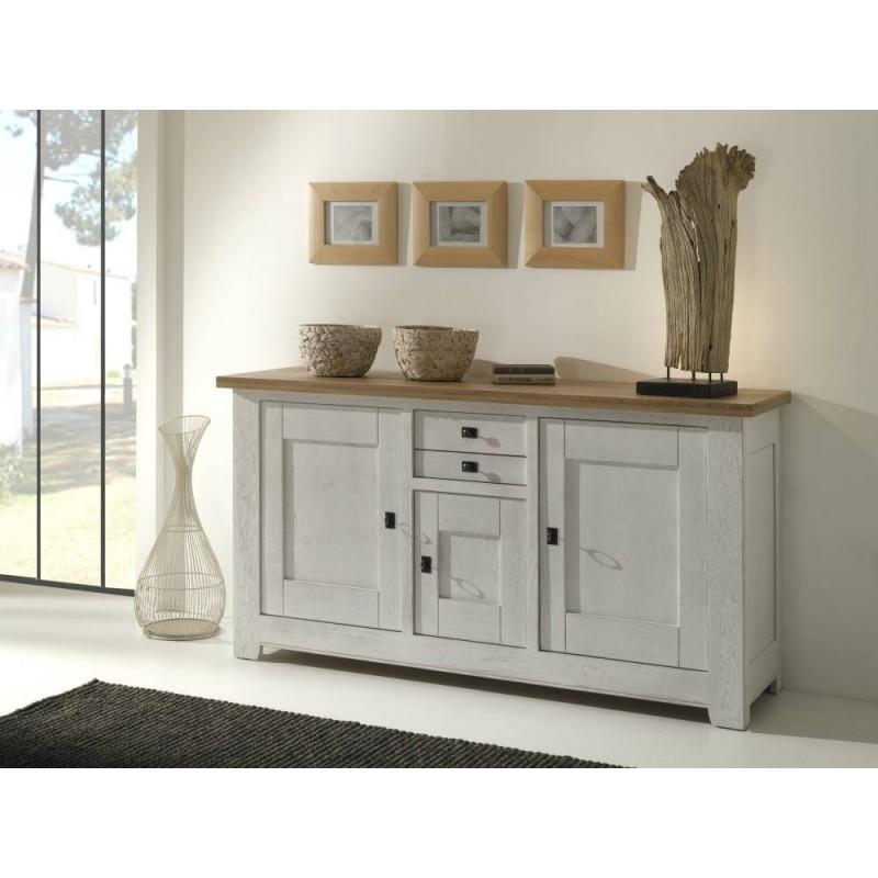 enfilade 3 portes 2 tiroirs whitney meubles leclerc. Black Bedroom Furniture Sets. Home Design Ideas