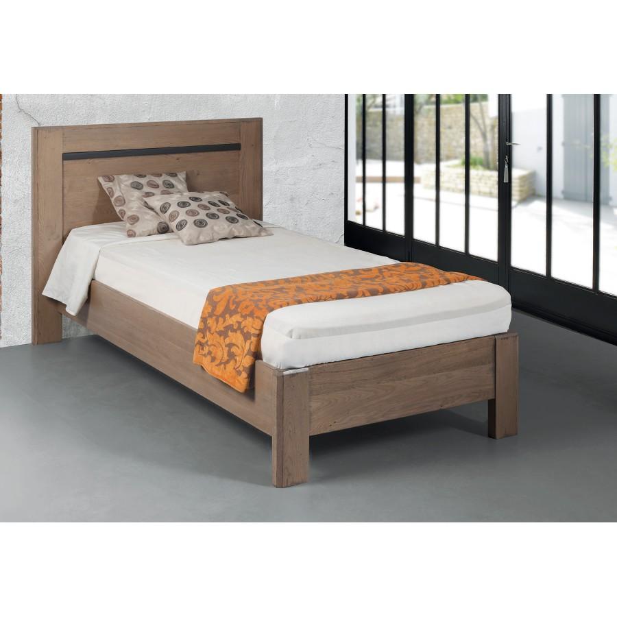 lit 1 place ch ne massif romance meubles leclerc. Black Bedroom Furniture Sets. Home Design Ideas
