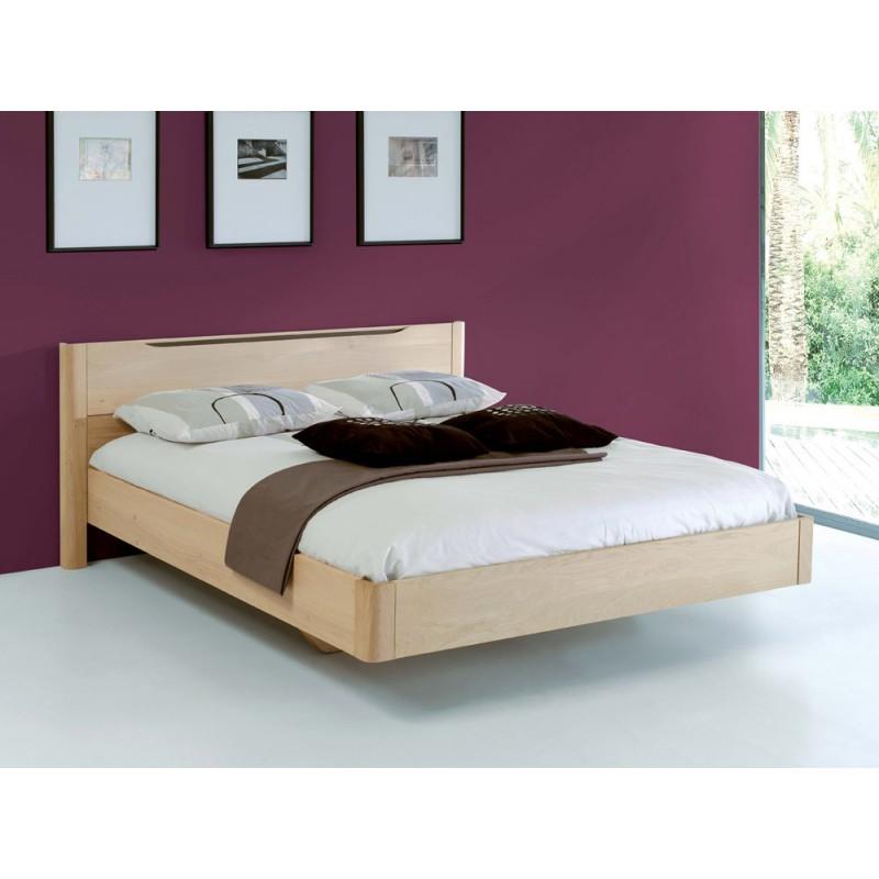 Lit ch ne massif lilou meubles leclerc - Paillis ardoise leclerc ...