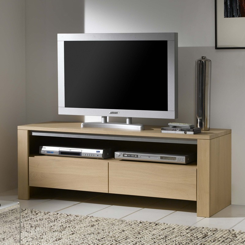 meuble tv ch ne massif yucca meubles leclerc. Black Bedroom Furniture Sets. Home Design Ideas
