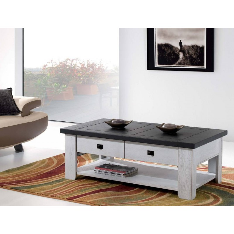 table basse whitney meubles leclerc. Black Bedroom Furniture Sets. Home Design Ideas