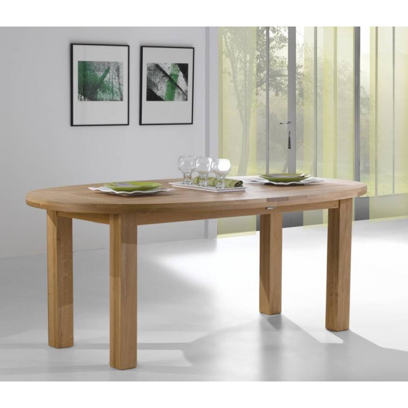 table ovale en ch ne massif whitney meubles leclerc. Black Bedroom Furniture Sets. Home Design Ideas