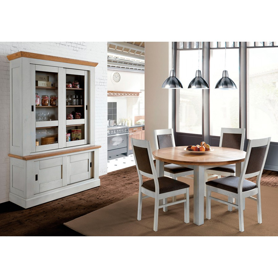 table ronde romance meubles leclerc. Black Bedroom Furniture Sets. Home Design Ideas