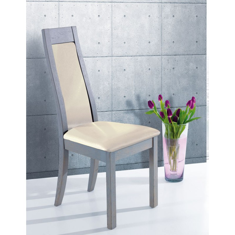 chaise assise skai ceram meubles leclerc. Black Bedroom Furniture Sets. Home Design Ideas