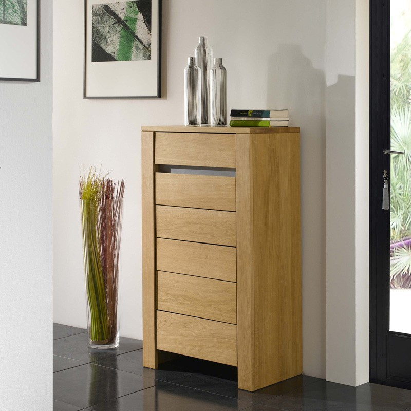 chiffonnier ch ne massif yucca meubles leclerc. Black Bedroom Furniture Sets. Home Design Ideas