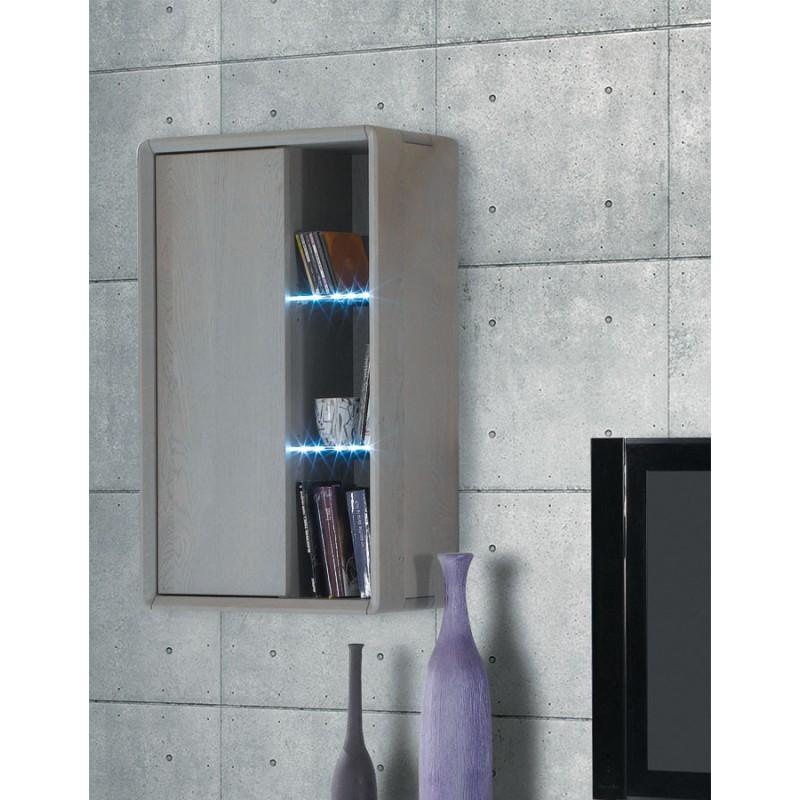 etag re suspendue en bois et verre ceram meubles leclerc. Black Bedroom Furniture Sets. Home Design Ideas