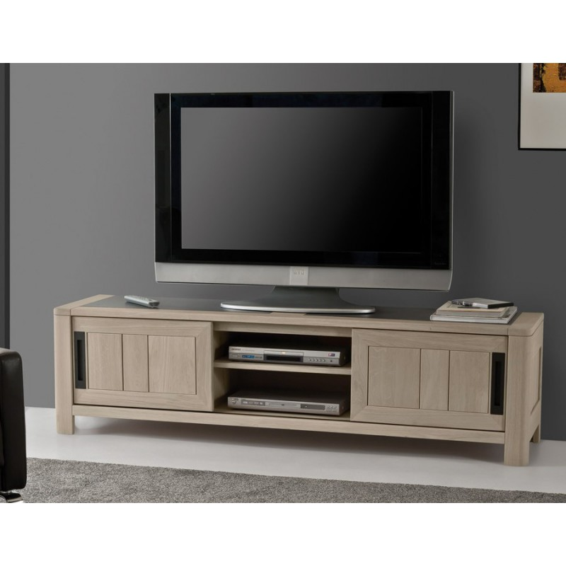 grand meuble tv deauvil meubles leclerc. Black Bedroom Furniture Sets. Home Design Ideas