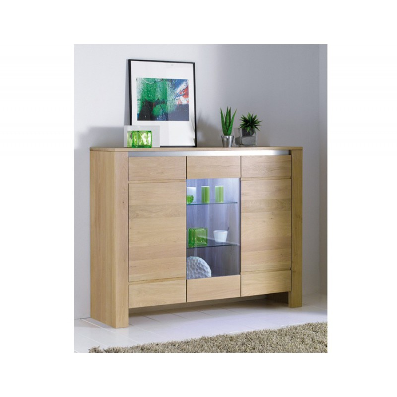 meuble d 39 appui ch ne massif yucca meubles leclerc. Black Bedroom Furniture Sets. Home Design Ideas