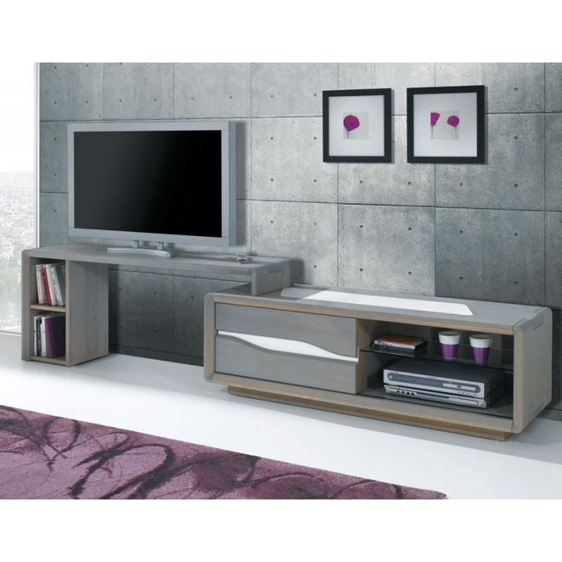 support tv mobile ceram meubles leclerc. Black Bedroom Furniture Sets. Home Design Ideas