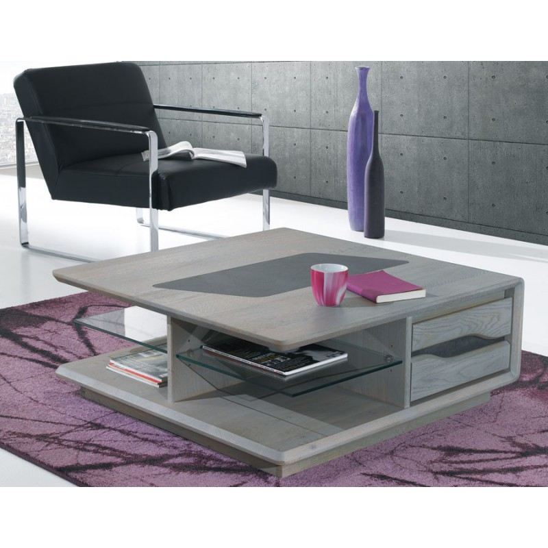 table basse carr e ceram meubles leclerc. Black Bedroom Furniture Sets. Home Design Ideas