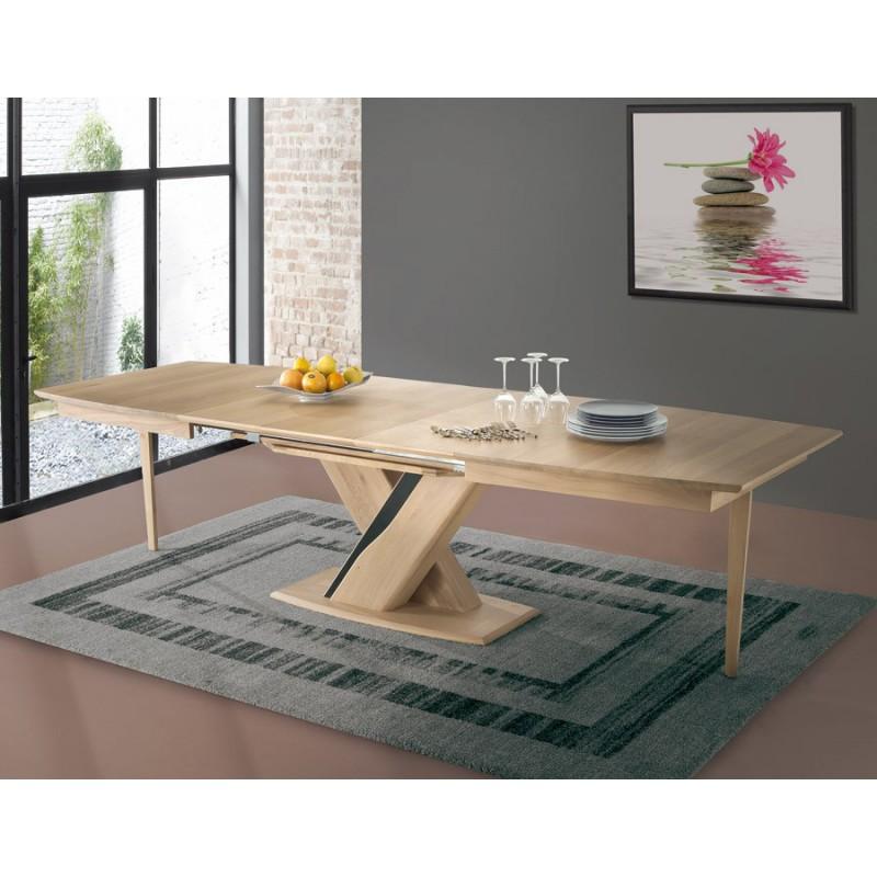 Table tonneau plateau bois - Ceram