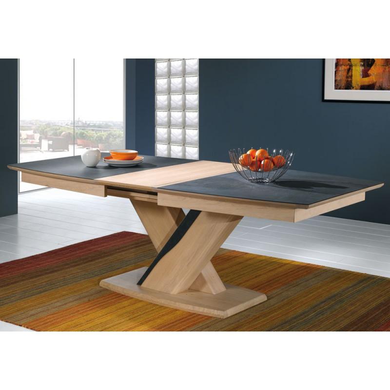 table tonneau plateau c ramique ceram meubles leclerc. Black Bedroom Furniture Sets. Home Design Ideas