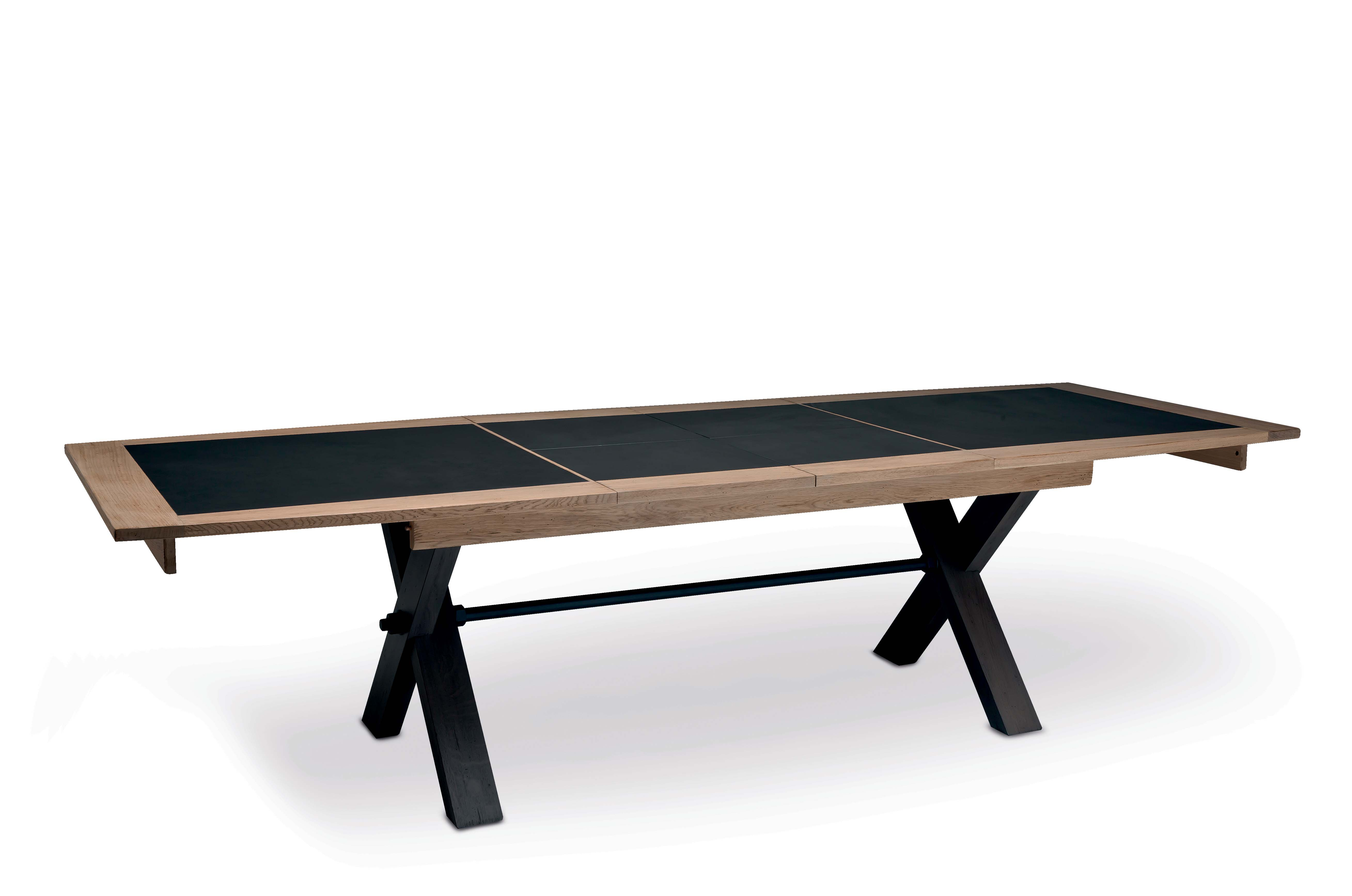 Table pied X 2 allonges - collection Magellan