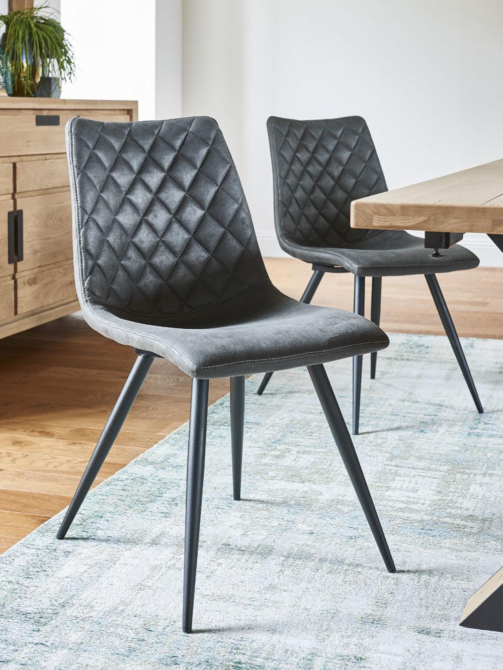 Hudson chaises gris foncé