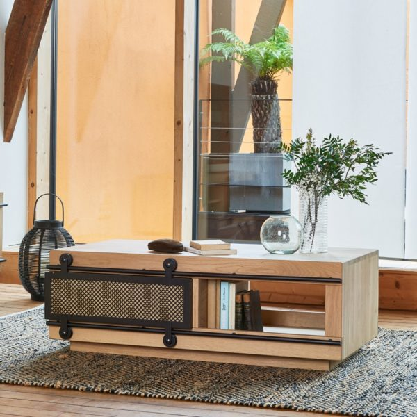 TABLE BASSE FUSION AVEC NICHES